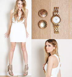 Madeline Becker - Nasty Gal Claudia Dress, My Grandmother's Earrings And Watch - Come on let me in, I will be the sun