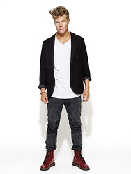 Andreas Wijk - Acne Studios Jacket, Weekday Jeans, Dr. Martens Shoes - We shall not be shaken.