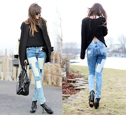Andy T. - H&M Jeans, Acne Studios Boots - PARTY ON THE BACK