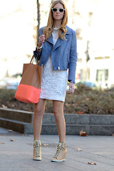 Chiara Ferragni - Acne Studios Jacket, Céline Celine Bag - Celine bag and Chloe shoes