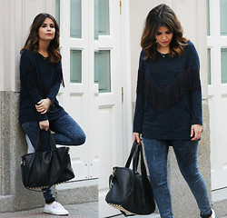 Sara E. - Zara Top, Modekungen Bag, Superga Sneakers, Topshop Jeans - Superga Spirit