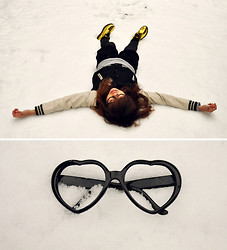 Kaila Ocampo - Dr. Martens Golden Docs, Popped Heart Sunnies, Varsity Jacket - A Snow Surprise in Tokyo