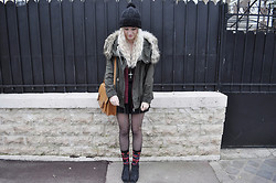 Charlie M. - Zara Khaki Jacket, H&M Black Playsuit, H&M Aztec Pattern Socks, Vagabond Wedges, Primark Blouse, New Yorker Satchel Bag - If i could fall into the sky
