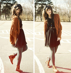 Maddy C - Boots, H&M Dress, Sweater - Oh so girly!