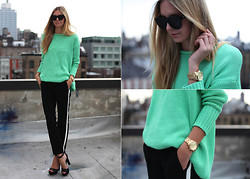 Jessica Stein - Acne Studios Oversized Mint Sweater, Michael Kors Watch, Jacquie Aiche Ring, Zara Pants - Refresh