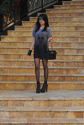 Raquel . - Karl Lagerfeld Dress, Anne Klein Bag, Jeffrey Campbell Litas, Karl Lagerfeld Glove -  Karl,I LOVE YOU!