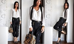Aniko V. - Kenneth Cole Leopard Print Bag, Zara Shirt, Dolce Gabbana Pants, Buffalo London Leopard Print Heels - Be simple..