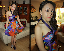 Hannah Meegan - Forever 21 Multi Colored Floral Dress, Brown Cut Out Heels - No Lies, Just Love