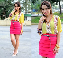 Julie Lozada - Chic Avenue Skirt, Topshop Top, Girlshoppe Necklace, Yrys Belt, Fuliren Shoes - Color of Summer
