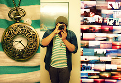 Eman Romero - Antique Pocketwatch, Forever 21 Mint Striped Henley - Home is where the heart is.
