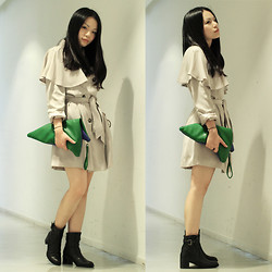 Yuki Lo - Bread N Butter Trench Coat, Daydream Nation Clutch, Jipijapa Boots - The do-The bridge is broken