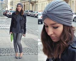 Becca S. - Asos Silver Turban, Terranova Jacket, Terranova Silver Pants - I would have died I would have loved you all my life