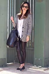 Frankie Hearts Fashion - Chanel Ballet Flats, Givenchy Bag, H&M Cardigan, Ray Ban Sunglasses - Wetlook