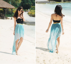 Kryz Uy - H&M Swimsuit, Love Assymetric Skirt - City by the Sea