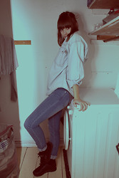 Janina Francis murphy - Dirty Laundry, Vntg Denim Shirt, Billiger Affe - 1. Name your look: