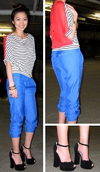Stacie MTHN - Striped Color Block Top, Silence + Noise Blue Pants, Chloé Chloe - Land That I Love