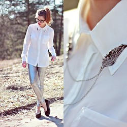 Nesairah Nesstyle - Romwe Shirt, Shoes, Glasses - COLLAR DETAIL