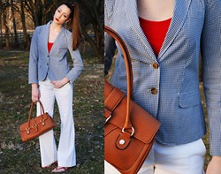 Haley Alexandra - J. Crew Blazer, Tory Burch Shoes - Give Me Strength.