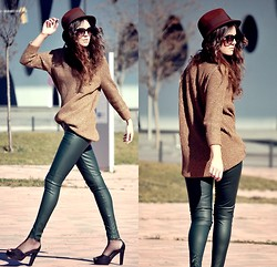 Laura Views - Zara Oversize, Zara Leather Pants, H&M Heels, Zara Hat - Bye bye sales!