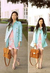 Jessica Wu - Bag, Mom Pastel Floral Skirt, Mom Coat, Mom Sweater, Sister Wedges - Spring Bunny