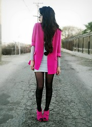 KENDALL SANCHÈZ - Forever 21 Blazer, Dress, Tights, Charlotte Russe Shoes - I love pink!!!