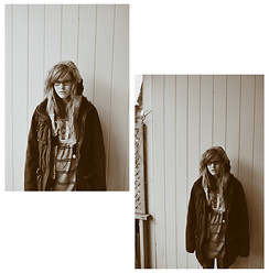THALIE BRUNET-CARDINAL - Urban Outfitters Vintage Dress, Forever 21 Wool Vest, Only Winter Coat - Gray is the new black