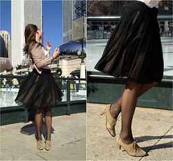 ChicFab Hunt - Banana Republic Skirt, Buenos Aires Shoes - Pleat Me