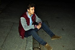 Felix S - Zara Desert Boots, Cheap Monday Jeans, Zara College, H&M Denim Shirt - Homerun