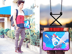 David Guison - Crave More Necklace, Punchdrunk Panda Laptop Case - Summer Galaxy
