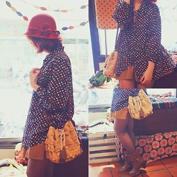 Jin Juin - Antiq Polka Dot Blouse, Antiq Cloche Hat, Vintage Lace Shoulder Bag - Thanks for the Memories..