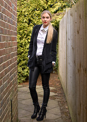 Anna Connelly - Uniqlo Shirt, H&M Trousers, Asos Shoes, Reiss Blazer, Michael Kors Watch - Androgyny...