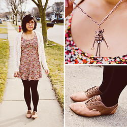 Dee Chiang - H&M Polka Dot Cardigan, H&M Dress, Chandler The Robot Tiny Dancer, Vans Shoes - Sweet Pea