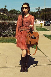 Jessica Wu - Satchel, Dress, Tjxx Boots - Boho