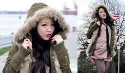 Joyce Salazar - Moussy, Japan Parka With Faux Fur Lining, Barbe A Papa Silk Long Shirt - Red Lips Tell Bloody Secrets