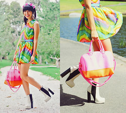 Connie Cao - Kani Headband, Asos Dress, Belt, Bag, Shoes, Rings, Vintage Necklace - Euphoria