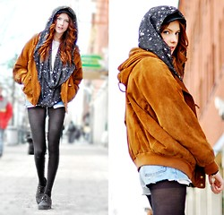 Ebba Zingmark - Scarf, Secondhand Jacket, Shorts, Shoes - Give me some space