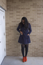 Joy U - H&M Coat, Vintage Dress, Necessary Clothing Shoes - H&M for the fall