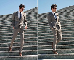 Adrian Cano - Ted Baker Suit, Reiss Brogues, Vintage Tie - Tricks and Light