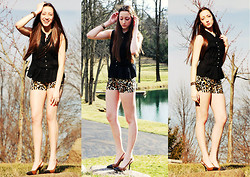 Haley Alexandra - Tory Burch Shoes, Charlotte Russe Shorts - Lovin' Leopard.