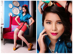 Edleen Lim - The Ramp Top, Charles And Keith Shoes, Forever 21 Accessories, Forever 21 Skirt - Cotton candy, sweet and dandy