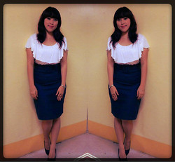Andi Velasquez - Glamour Studio Ruffled High Waist Skirt, Sm Dept. Store White Top, Silverworks Silver Necklace - Even Happier <3