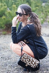 Gabriela Grębska - Romwe Leggings And Sweater, Fashionfreak Necklace, Vj Style Bag - Rabbit Heart