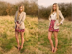 Anna Connelly - Zara Top, Zara Blazer, Aldo Necklace, Zara Skirt, Topshop Shoes - Bring on Spring...