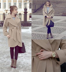 Anna Vershinina - Ordered In The Atelier Coat, Michael Kors Watches, Miss Selfridge Shoes - Keep It Classy