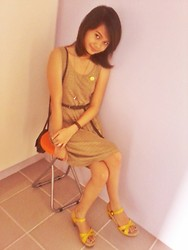 Kally Dc - Promod, Dress - Yellow