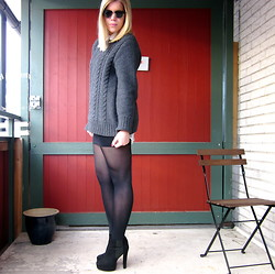 Yasha Åkesson - Style Of Aviator Sunglasses, H&M Knit, Duffy Shoes - BOYISH