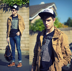 Adam Gallagher - Lamb & Flag Jacket, Urbano Joy Division Tee - LambxFlag