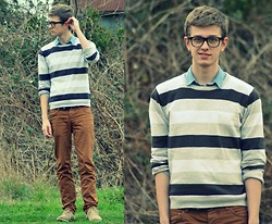 Rob Evans - Topman Shirt, Topman Sweater, H&M Chinos, Zara Shoes - TGIF