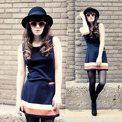 Rachel-Marie Iwanyszyn - H&M Hat, Asos Round Sunglasses, Tfnc London A Line Pocket Dress, Wedges, Http://Www.Jaglever.Com - EMBRACING SPRING.