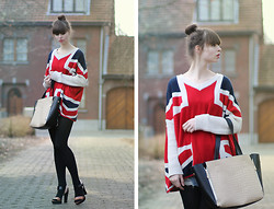 Paris & London - - Sheinside Sweater, Romwe Bag, River Island Shoes - Favorite sweather